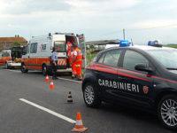 Campagna: non si ferma allo stop e tampona l'auto dei Carabinieri. Quattro feriti