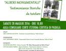 """Padula: il 28 maggio laboratorio didattico ambientale """"Alberi Monumentali – testimonianze storiche da tutelare"""""""