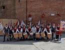 Gli Sbandieratori e le Tamburine di Teggiano in gara per la prima volta a Città della Pieve