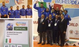 Gerardo Di Gruccio di Teggiano fa incetta di medaglie ai Mondiali di Arti Marziali per sordi