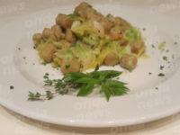 Al Magic Hotel gnocchi di patate e castagne con salsa di verza e gamberetti