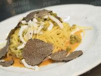 """Al """"Villa Torre Antica"""" taglierini all'uovo su crema di zucca piccante e tartufo"""