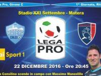 Calcio Lega Pro. L'arbitro di Teggiano Massimo Manzolillo su RaiSport per Matera-Taranto