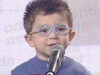 """Il piccolo Luca Morello, originario di Teggiano, vince il premio """"Zecchino Web"""""""