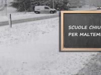 Maltempo, neve e temperature rigide. Domani scuole chiuse in diversi comuni