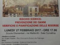 Sala Consilina: il 27 febbraio incontro su rischio sismico e prevenzione dei danni