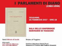 """Teggiano: il 25 febbraio presentazione del libro """"I Parlamenti di Diano"""" di Didier e Carrano"""