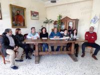 Teggiano: conferenza stampa dell'amministrazione su mercato, fognature e scuola