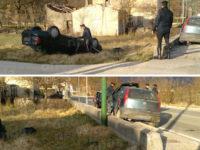 Spaventoso incidente stradale a Sassano. Auto si capovolge, ferite due persone del posto