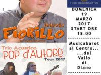 """Il 19 marzo il comico Antonio Fiorillo e il trio """"Pop d'Autore"""" al Centro Commerciale Diano"""