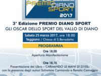 """Teggiano: il 25 marzo terza edizione del """"Premio Diano Sport"""""""