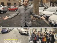 """""""Occhiali a specchio"""". Videoclip per le strade di Roma del cantante di Palomonte Il Conte Biagio"""