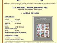 """Padula: il 26 marzo presentazione del libro """"Le categorie umane secondo me"""" di Angelo Romano"""