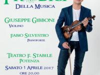 """Potenza: il 1° aprile il duo Gibboni-Silvestro in concerto al Teatro """"Stabile"""""""