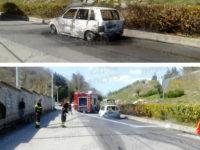 Montesano sulla Marcellana: auto prende fuoco mentre è in marcia. Illeso il conducente