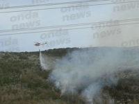 Sassano:incendio in alta montagna.Interviene l'elicottero dei Vigili del Fuoco a domare le fiamme