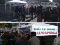 Ospedale di Polla. Flash mob per difendere il presidio, ma i cittadini partecipano in pochi