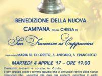"""Montesano: la nuova campana """"Virgo Lauretana"""" al convento Cappuccini. Domani la benedizione"""