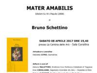 """Sala Consilina: l'8 aprile si legge """"Mater Amabilis"""" di Mons. Bruno Schettino a """"Nero su Bianco"""""""