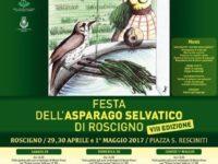 Roscigno: dal 29 aprile al 1° maggio XIII edizione della festa dell'asparago selvatico
