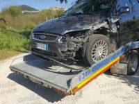 Montesano: scontro tra due auto nella frazione Prato Comune, feriti i conducenti