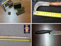 Sequestrati droga e oggetti atti ad offendere. Circa 250 persone controllate nel Vallo di Diano