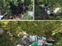 Pneumatici usati, plastica e cumuli di rifiuti. Discarica a cielo aperto a Sala Consilina