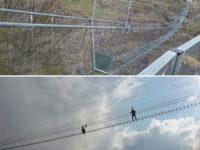 Ad un passo dal cielo e a 120 metri da terra. Inaugurato il ponte Tibetano di Sasso di Castalda