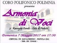 """Padula: domani in Certosa la terza rassegna corale """"Armonia di voci"""""""