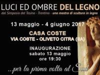 """Oliveto Citra: fino al 4 giugno, per la prima volta al Sud, la mostra """"Luci ed ombre del legno"""""""