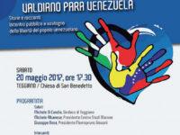 """Teggiano: il 20 maggio l'incontro pubblico """"Il Vallo di Diano per il Venezuela"""""""