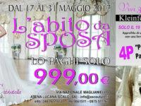 Atena Lucana: dal 17 al 31 maggio abiti da sposa a 990 euro per l'anniversario di I Love Shopping