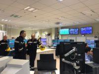 Il presidente della Basilicata Marcello Pittella a Viggiano per l'ispezione del Centro Oli