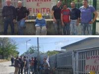 """Sciopero dei lavoratori alla centrale idrica Caggiano-Polla:""""Da oggi non gestiamo più l'impianto"""""""