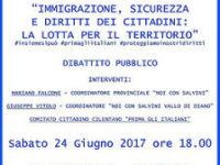 """San Rufo: il 24 giugno l'incontro di """"Noi con Salvini"""" su immigrazione, sicurezza e diritti"""