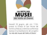 """Padula: domani conferenza stampa di presentazione del progetto """"Rete dei Musei Vallo di Diano"""""""