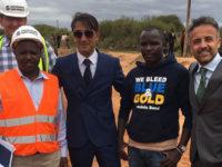 In Kenya per costruire l'acquedotto. Carmine Santangelo incontra il Presidente Kenyatta