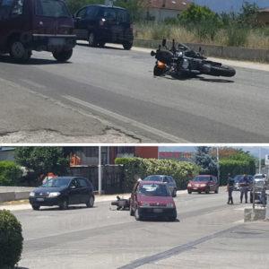 Sala Consilina: scontro tra auto e moto. Ferito centauro di Sant'Arsenio