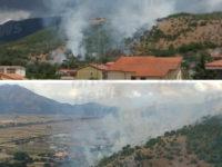 Incendio ad Atena Lucana. A fuoco la montagna di località Polisano