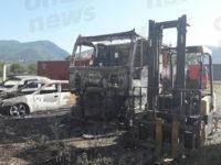 Sala Consilina: incendio in un parco mezzi di una concessionaria. In fiamme numerosi veicoli