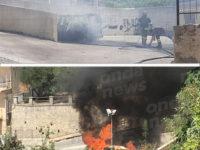 Padula: auto in fiamme nel centro abitato. Intervengono i Vigili del Fuoco