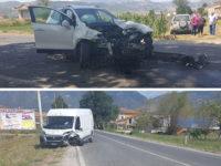 Scontro tra auto e furgone sulla SS19 tra Padula e Sala Consilina. Due feriti
