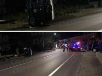 Sala Consilina: incidente nella notte a Trinità. Minicar si ribalta
