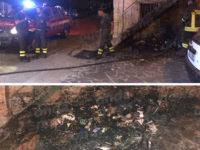Montesano: rifiuti in fiamme nel centro abitato di Arenabianca. Intervengono i Vigili del Fuoco