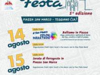 """Teggiano: da domani al 16 agosto torna """"San Marco in festa"""" con iniziative culturali e gastronomia"""