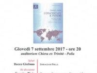 """Polla: domani la presentazione del volume """"Coincidenze e poteri"""" di Carmelo Conte"""