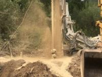 Sanza:verso la risoluzione della crisi idrica.Trovata acqua a 35 metri di perforazione a Scattabove