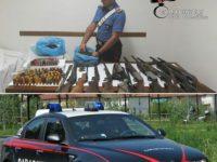 Un arsenale nascosto sotto terra a Roscigno. Trovati esplosivo, armi, droga e munizioni