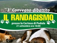 Padula: il 21 settembre 3° convegno sul randagismo organizzato dall'Associazione Vola di Caggiano