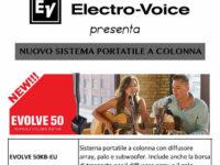 """Padula: oggi presentazione del sistema portatile a colonna """"Evolve 50"""" da Centro Musica Store"""